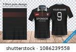 soccer jersey template  sport... | Shutterstock .eps vector #1086239558