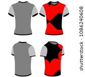 vector design of t shirt with... | Shutterstock .eps vector #1086240608