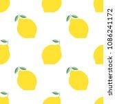 lemon pattern. seamless vector...   Shutterstock .eps vector #1086241172