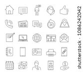information center linear icons ... | Shutterstock .eps vector #1086242042