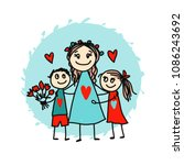 happy mother's day. greeting... | Shutterstock .eps vector #1086243692