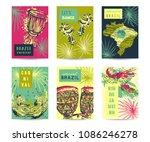 brazil carnival template design ... | Shutterstock .eps vector #1086246278