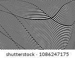abstract op art pattern. lines... | Shutterstock .eps vector #1086247175