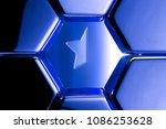 blue metallic star half icon in ...