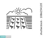 spring field icon. seedling.... | Shutterstock .eps vector #1086254135