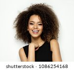 beautiful black female model... | Shutterstock . vector #1086254168