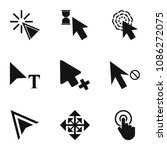 press icons set. simple set of... | Shutterstock . vector #1086272075