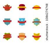 standard icons set. flat set of ... | Shutterstock . vector #1086274748