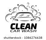 Hand Draw Car Wash Logo  Car...