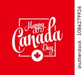 canada day vector illustration. ... | Shutterstock .eps vector #1086279926