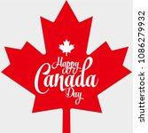 happy canada day vector... | Shutterstock .eps vector #1086279932