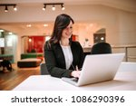 portrait of a joyful...   Shutterstock . vector #1086290396