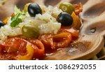 esgarrat   typical dish from... | Shutterstock . vector #1086292055