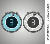 electronic digital stopwatch.... | Shutterstock .eps vector #1086299306