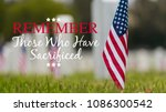 small american flags and... | Shutterstock . vector #1086300542