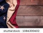 a vintage american flag or... | Shutterstock . vector #1086300602