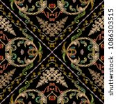 baroque embroidery vector... | Shutterstock .eps vector #1086303515