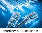 network cables and optical... | Shutterstock . vector #1086304745