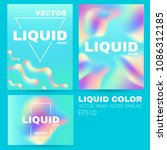 liquid and fluid colors... | Shutterstock .eps vector #1086312185