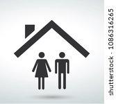 house icon vector family | Shutterstock .eps vector #1086316265