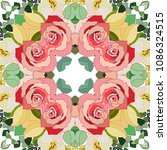 abstract design flower pattern. | Shutterstock .eps vector #1086324515