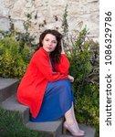 sexy beauty girl   dressed in...   Shutterstock . vector #1086329786
