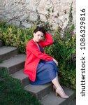 sexy beauty girl   dressed in...   Shutterstock . vector #1086329816