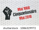may 1968 events in france  50th ... | Shutterstock . vector #1086329972