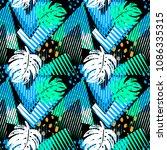 seamless summer tropical...   Shutterstock .eps vector #1086335315