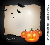 halloween background with... | Shutterstock .eps vector #108634412