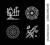 planets related set of 4 icons... | Shutterstock .eps vector #1086348248
