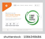 quality one page uce reuse... | Shutterstock .eps vector #1086348686