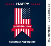memorial day   remember and... | Shutterstock .eps vector #1086356186