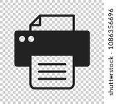 printer icon. vector... | Shutterstock .eps vector #1086356696
