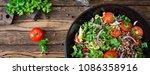 buckwheat salad with cherry...   Shutterstock . vector #1086358916