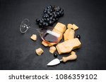 pieces of parmesan or... | Shutterstock . vector #1086359102