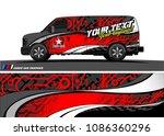 car wrap design vector. simple... | Shutterstock .eps vector #1086360296