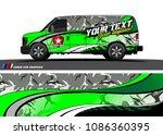 car wrap design vector. simple... | Shutterstock .eps vector #1086360395
