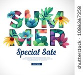 design special sale print for... | Shutterstock .eps vector #1086367358