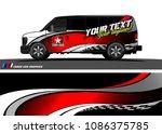 van wraps design vector.... | Shutterstock .eps vector #1086375785