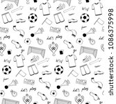 football doodle objects and... | Shutterstock .eps vector #1086375998