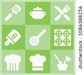 filled cooking icon set such as ...   Shutterstock .eps vector #1086388256