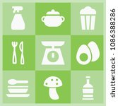 filled food icon set such as...   Shutterstock .eps vector #1086388286