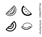 outline melon icon set such as... | Shutterstock .eps vector #1086399746