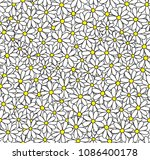 daisy seamless vector pattern....   Shutterstock .eps vector #1086400178