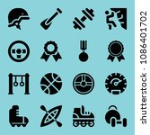 filled sports icon set such as... | Shutterstock .eps vector #1086401702
