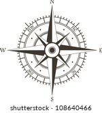 Black Wind Rose Isolated On...
