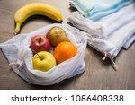 zero waste  plastic free... | Shutterstock . vector #1086408338