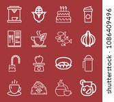 outline set of 16 food icons... | Shutterstock .eps vector #1086409496