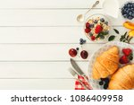 rich continental breakfast... | Shutterstock . vector #1086409958